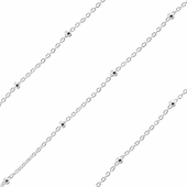 Sterling Silver Forzatina Rollo Chain 1mm