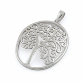Sterling Silver Frame Tree of Life Pendant