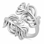 Sterling Silver Freeform Kelp Ring