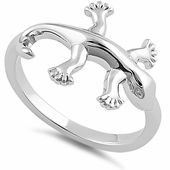 Sterling Silver Gecko Ring
