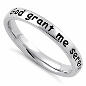 "Sterling Silver ""God grant me serenity, wisdom, & courage"" Ring"