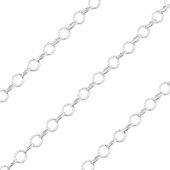 Sterling Silver Hammered Cable Chain 5.0mm