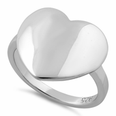 Sterling Silver High Polish Big Heart Ring