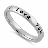 "Sterling Silver ""I Love You"" Ring"