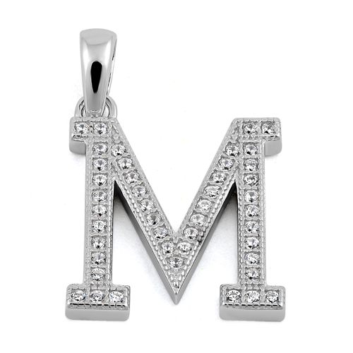 m letter in silver - photo #5
