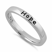 "Sterling Silver ""Love Hope Faith"" Ring"