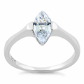 Sterling Silver Marquis CZ Ring