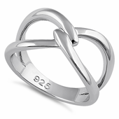 Sterling Silver Meet Me At The Middle Ring