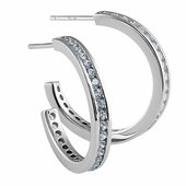 Sterling Silver Modern Clear CZ Earrings