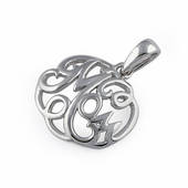 "Sterling Silver ""Mom"" Pendant"