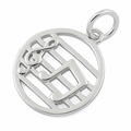 Sterling Silver Musical Notes Pendant