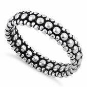 Sterling Silver Pebbles Stackable Ring