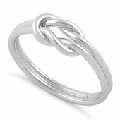 Sterling Silver Reef Knot Ring
