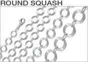 Sterling Silver Round Squash Chains