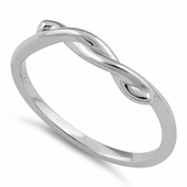 Sterling Silver Semi Knot Ring