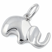 Sterling Silver Soft Elephant Pendant