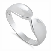 Sterling Silver Solid Infinity Ring