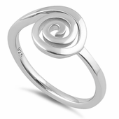 Sterling Silver Sweet Swirly Ring