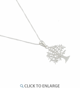"Sterling Silver Tree 16"" Necklace"