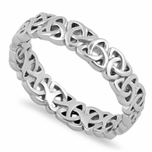 Sterling Silver Triquetra Charm Ring