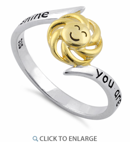 "Sterling Silver ""You Are My Sunshine, My Only Sunshine"" Ring"
