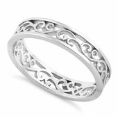 Sterling Silver Unique Band Ring