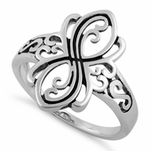 Sterling Silver Unique Design Ring
