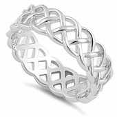 Sterling Silver Weaved Pattern Ring