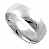 Sterling Silver Wedding Band 6mm