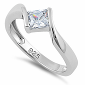 Sterling Silver Clear CZ Ring