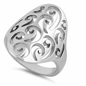 Sterling Silver Wind Swirls Ring