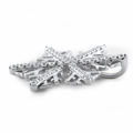 Sterling Silver Winter Snowflake Clear CZ Pendant