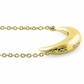 Sterling Silver Yellow Gold Half Moon Necklace