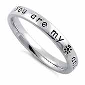 "Sterling Silver ""You Are My Sun And Moon And All My Stars"" Ring"