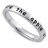 """Sterling Silver """"You are the apple of my eye"""" Ring"""