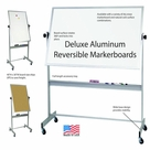 Deluxe Reversible - Aluminum Trim Portable Markerboards