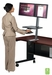 Desk Mounted Sit/Stand Workstation - Single Monitor