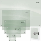 Enlighten Glass Dry Erase Markerboard - Frosted Pearl 1 1/2'H x 2'W