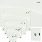 Enlighten Glass Dry Erase Markerboard - White 3'H x 4'W