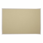 Fabric Covered Add-Cork Tackboards-Aluminum 4'H x 5'W