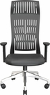 FLY MID BACK CHAIR BLACK WITH FIXED ARMS, NYLON BASE