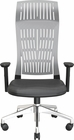 FLY MID BACK CHAIR GRAY WITH FIXED ARMS, NYLON BASE��