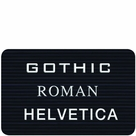 Letter Sets for Directory Cabinets -Gothic