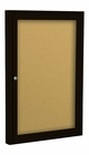 Outdoor Enclosed Bulletin Board Cabinets - Coffee Finish