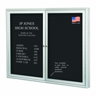 Outdoor Enclosed Directory Board Cabinets - Silver Finish
