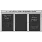 Outdoor Enclosed Headline Directory Board Cabinets - Silver Finish