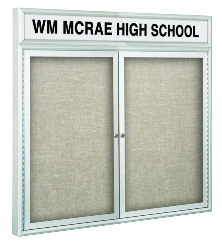 Outdoor Headline Bulletin Board Cabinet 42 39 39 H X 60 39 39 W 2 H