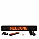 "Programmable Message Sign - Amber - 4""H x 26""L x 1""D"