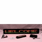 "Programmable Message Sign - Tri Color - 4""H x 26""L x 1""D"
