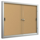 Standard Bulletin Board Cabinets with 2 sliding doors 3'H x 5'W